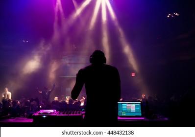 A DJ performing at a concert