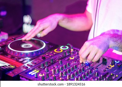 DJ sound equipment at nightclubs and music festivals, EDM, future house music and so on