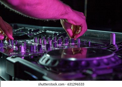 DJ sound equipment at nightclubs and music festivals, EDM, future house music and so on.