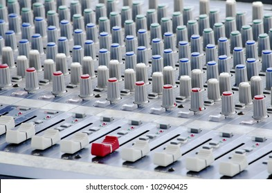 Dj sound mixer. Equipment for concerts.