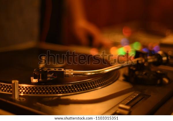 DJ TurnTable Night Photography Art