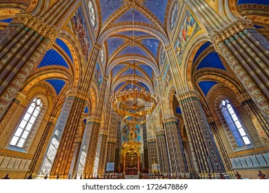 DJAKOVO, CROATIA - October 5, 2017: Interior of the cathedral of St. Peter in Djakovo Croatia.