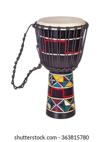 Djembe drum isolated over white