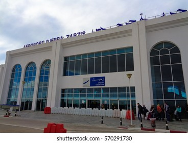 DJERBA/TUNISIA - JANUARY 7 2017: Djerba-Zarzis International Airport. North Africa
