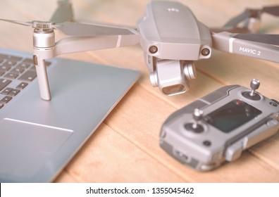 DJI Mavic 2 pro with Hasselblad camera.