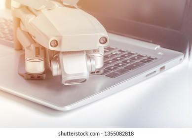 DJI Mavic 2 pro with Laptop