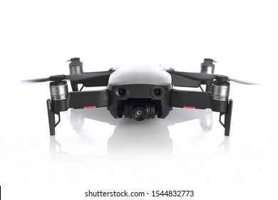 DJI MAVIC AIR on white background. compact drone by DJI. 08.06.2019, Rostov region, Russia.