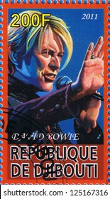 DJIBOUTI - CIRCA 2011: A postage stamp printed in the Republic of Djibouti showing David Bowie, circa 2011