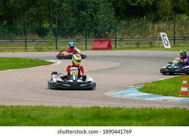 DMITROV, IGNATOVO, MOSCOW REGION, RUSSIA - SEPTEMBER 05, 2020: Stage 17  SWS AIMOL MAYAK Sprint Cup 2020, karting track Mayak