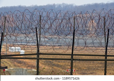 DMZ fences, The Korean Demilitarized Zone is a strip of land running across the Korean Peninsula that serves as a buffer zone between North and South Korea which runs along the 38th parallel north.
