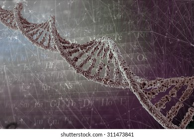 DNA background with strand molecule structure. genetic and chemical compounds