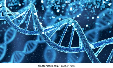 DNA-Gene-Helix-Spiralmolekül-Struktur