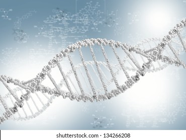 DNA helix against the colored background, scientific conceptual background