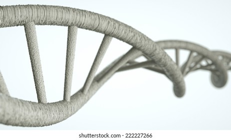 DNA DNA helix in a electron raster look