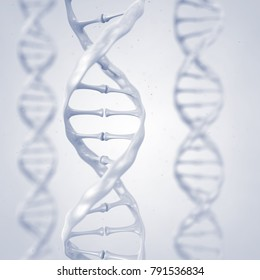 Dna helix , Gene sequencing and Genetic research , 3d illustration
