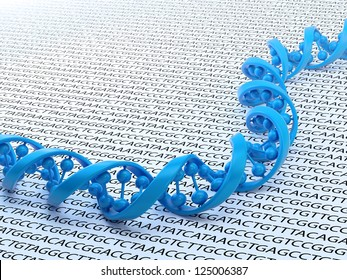 DNA strand sequencing concept illustration