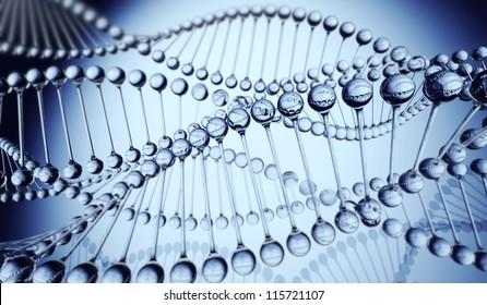DNA Strands 3D model