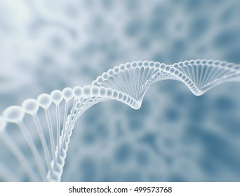 DNA string high resolution 3d render science background.