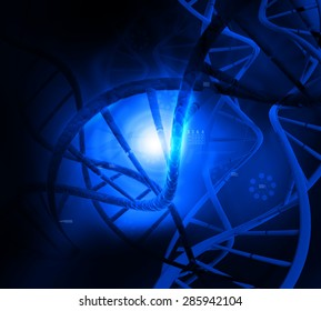 DNA structure on abstract background