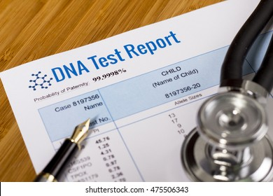 DNA test report of paternity