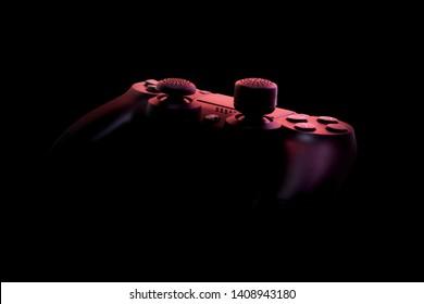 25ce76c0c Dnepr, Dnipropetrovsk region, Ukraine - APRIL 21, 2019: Black SONY  playstation 4
