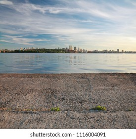 Dnepropetrovsk, beautiful city landscape, Dnepr River