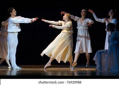 "DNEPROPETROVSK, UKRAINE - APRIL 29: Members of the Dnepropetrovsk State Opera and Ballet Theatre perform ""Romeo and Juliet"" on April 29, 2011 in Dnepropetrovsk, Ukraine"