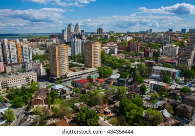 DNEPROPETROVSK, UKRAINE - MAY 15: Aerial panorama view on 15 of May 2015. Dnepropetrovsk, Ukraine .