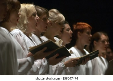 DNEPROPETROVSK, UKRAINE - MAY 27: Choir DUMKA perform Verdi's REQUIEM on May 27, 2013 in Dnepropetrovsk, Ukraine