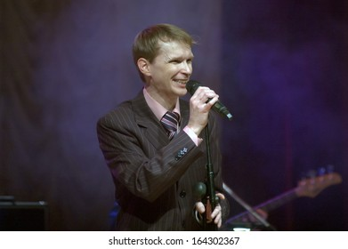 DNEPROPETROVSK, UKRAINE - NOVEMBER 24: Member of the Neo-Swing Band BOOGIE DANCE performs at the Philharmonic on November 24, 2013 in Dnepropetrovsk, Ukraine