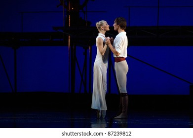 """DNEPROPETROVSK, UKRAINE - OCTOBER 23: """"Le Corsaire"""" ballet is performed by members of the Dnepropetrovsk Opera and Ballet Theatre ballet on October 23, 2011 in Dnepropetrovsk, Ukraine."""