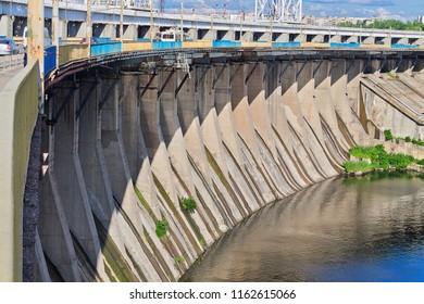 Dnieper hydroelectric power station in Zaporozhye, Ukraine