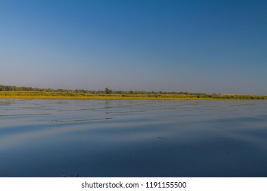 The Dnieper River in the floodplains near the village of Kushugum. Zaporozhye region, Ukraine. September 2018