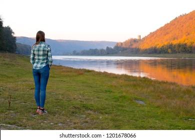Dniester. river, Ternopil region of western Ukraine