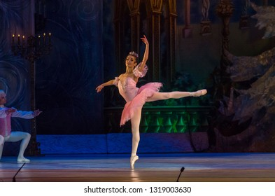 DNIPRO, UKRAINE - FEBRUARY 15, 2019: Nutcracker ballet performed by members of the Dnipro Opera and Ballet Theatre.