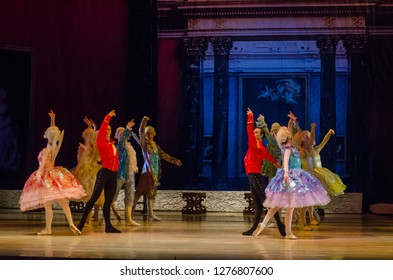 DNiPRO, UKRAINE - JANUARY 6, 2018: Night before Christmas ballet  performed by members of the Dnipro Opera and Ballet Theatre