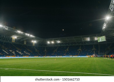 Dnipro, Ukraine - September 10, 2019: Dnipro Arena before frienfly match Ukraine - Nigeria