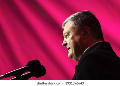 DNIPROPETROVSK Reg. UKRAINE - Mar. 05, 2019:  President of Ukraine Petro Poroshenko during his working visit to Dnipropetrovsk region