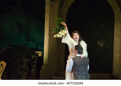 DNIPROPETROVSK, UKRAINE - APRIL 17, 2016: Traviata opera