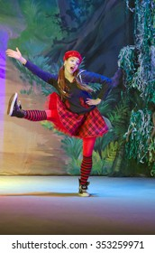 DNIPROPETROVSK, UKRAINE - DECEMBER 19, 2015: Incredible Adventures of Ksyusha in dreamland performed by members of the Dnipropetrovsk State Russian Drama Theatre