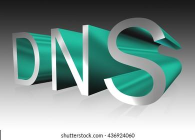 DNS lettering - 3D illustration
