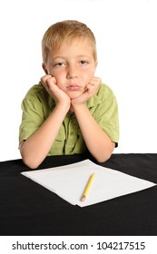 Do I Have to Work on my Homework? Seven year old boy refusing to start his homework.