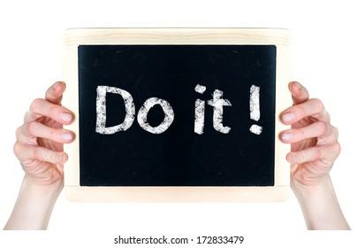 Do it! on blackboard