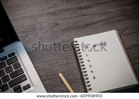 do list by priority note book stock photo edit now 609908903