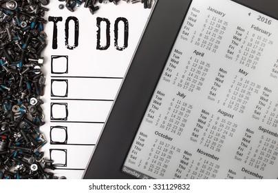To do list with calendar 2016