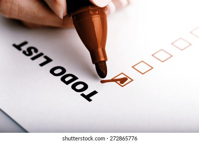 To Do list with check marks isolated on white