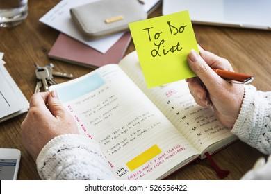 To Do List Personal Organizer Management Reminder Task Concept