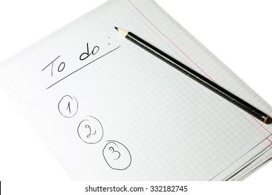 To do list written on white paper