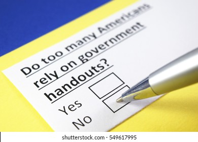 Do too many americans rely on government handouts? Yes