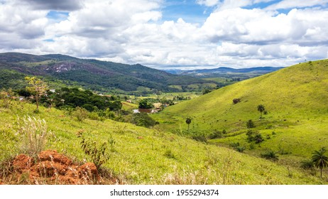 Itambé do Mato Dentro - Minas Gerais - Brasil - JAN 26 2021: Rural area of Cabeça de Boi district